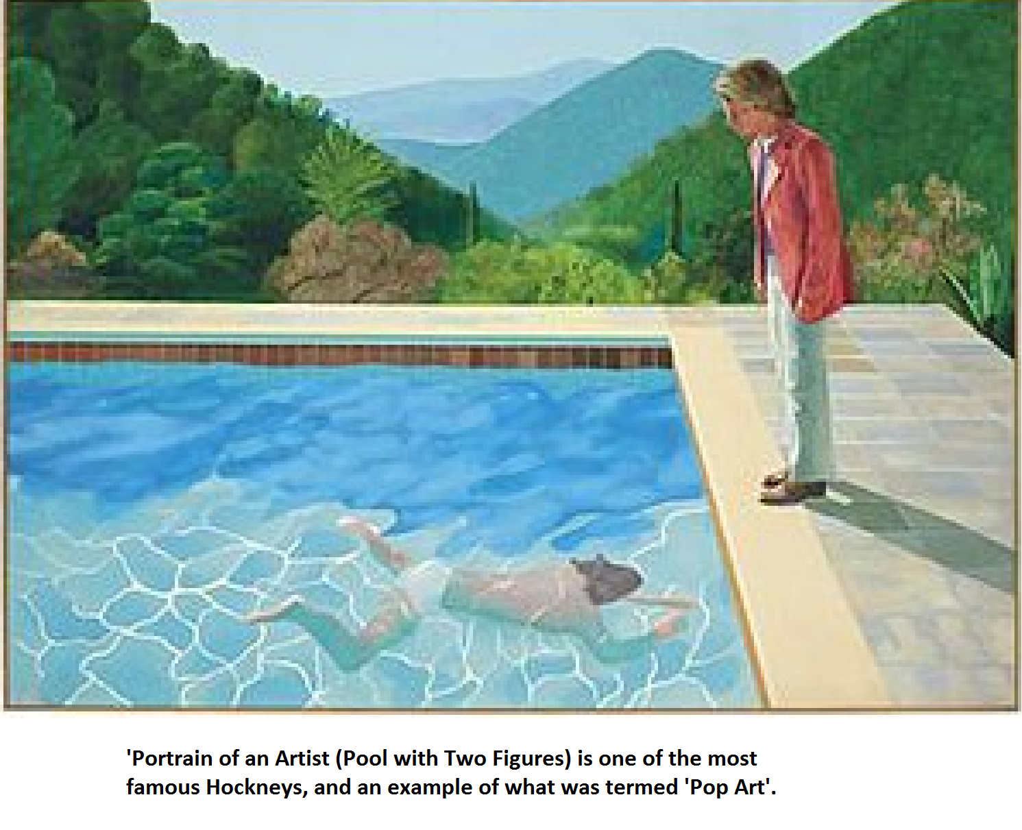 Pool with Two Figures - David Hockney