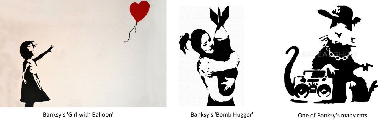 Banksey and Stencil Art