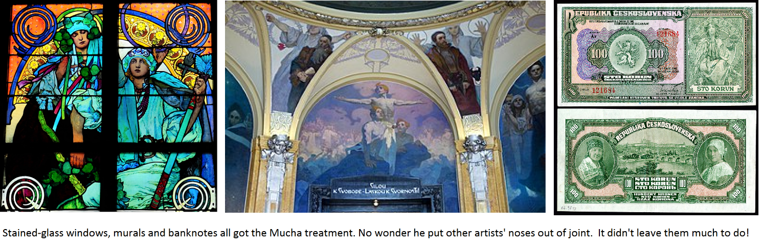 Mucha's stained glass windows.