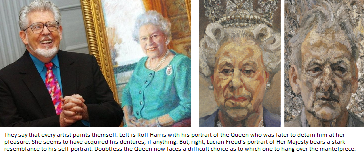 Lucien Freud portrait of the Queen