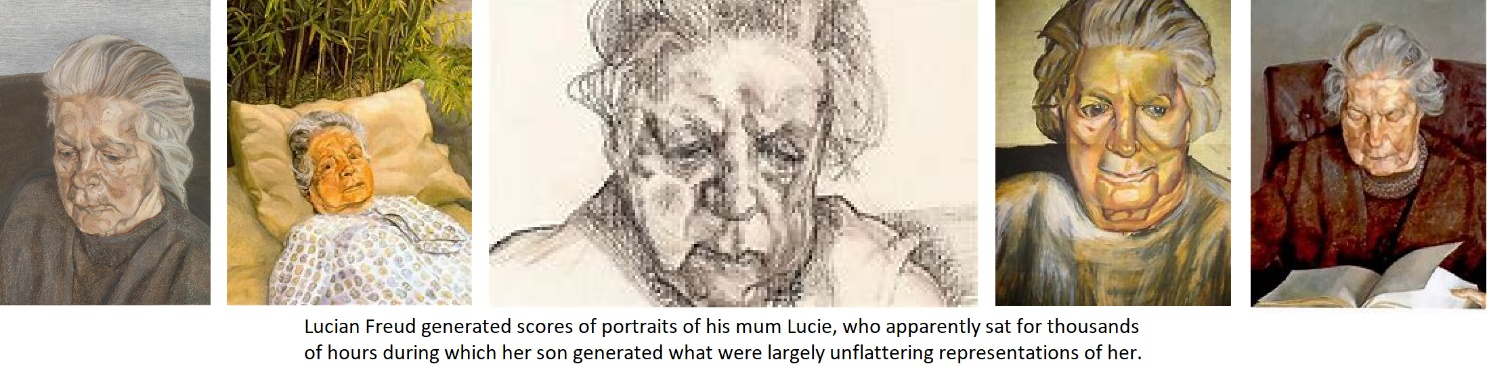 Lucien Freud's Mother Portraits
