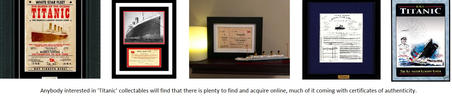 Titanic Collectibles
