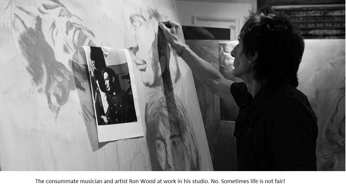 Ron Wood in his studio