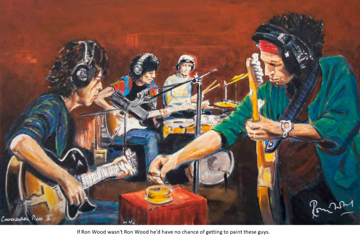 Ron Wood painting of Rolling Stones