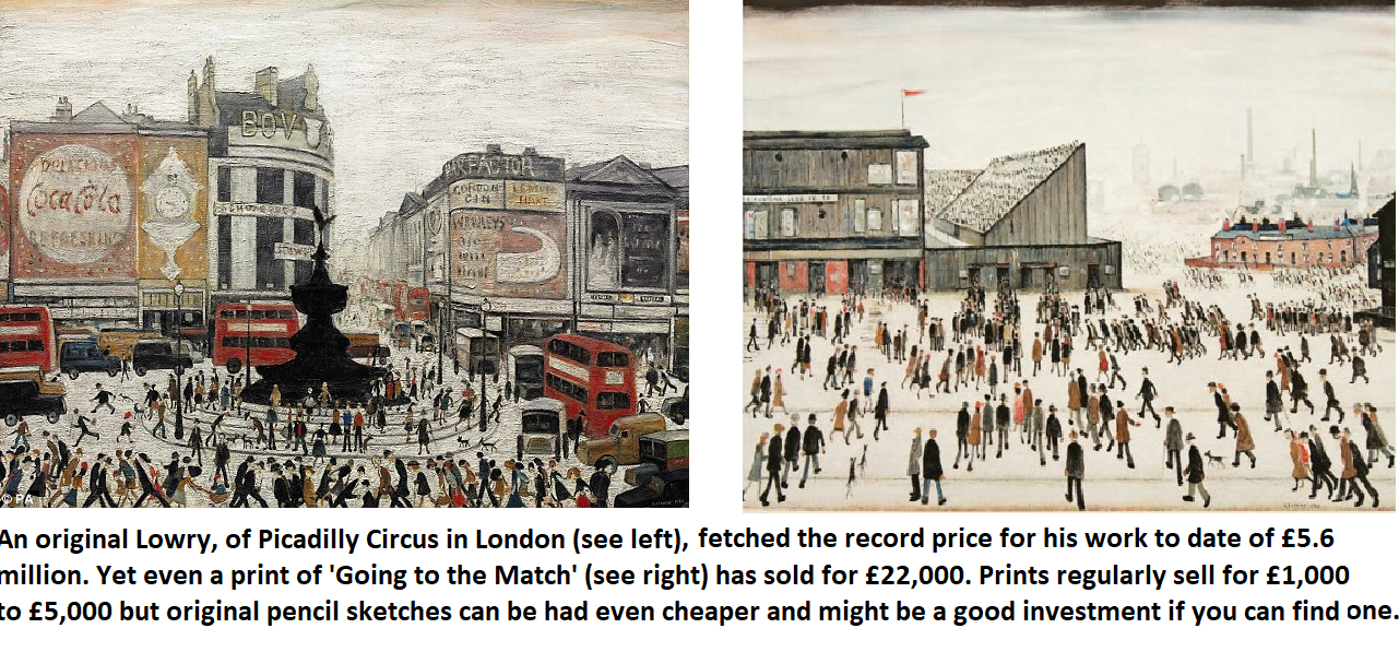 Ls Lowry original paintings
