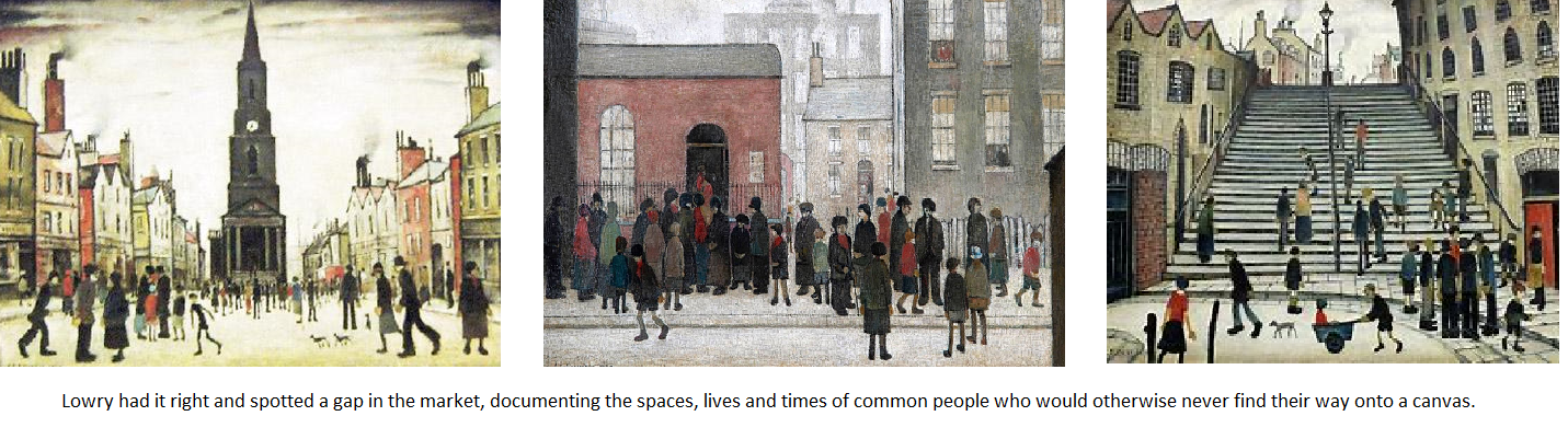 Ls Lowry painting of common folk