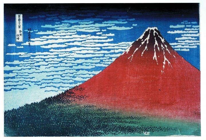 Hokusai's 'South Wind, Clear Sky'